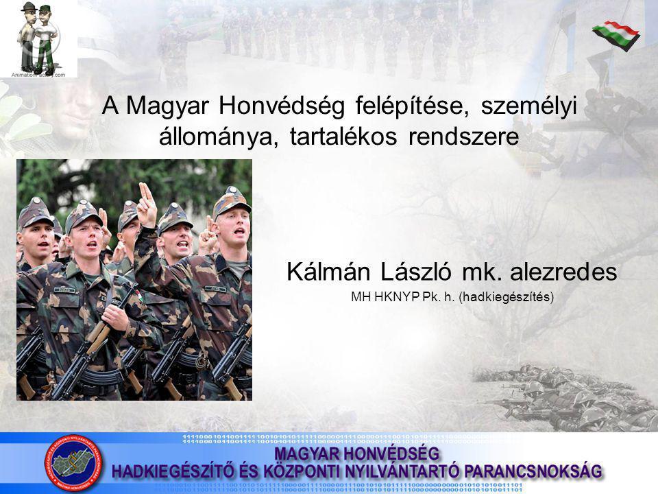 Kálmán László mk. alezredes MH HKNYP Pk. h. (hadkiegészítés)