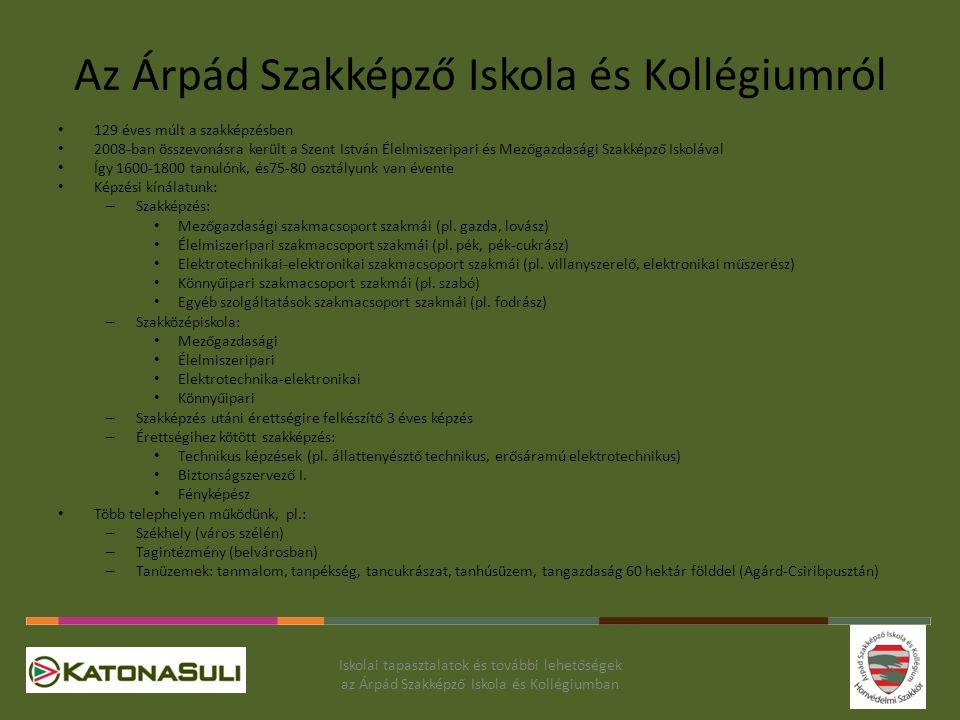 Az Árpád Szakképző Iskola és Kollégiumról