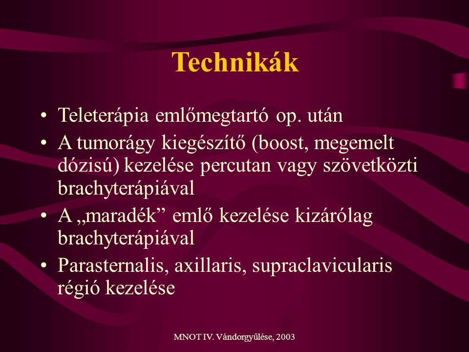 Technikák Teleterápia emlőmegtartó op. után
