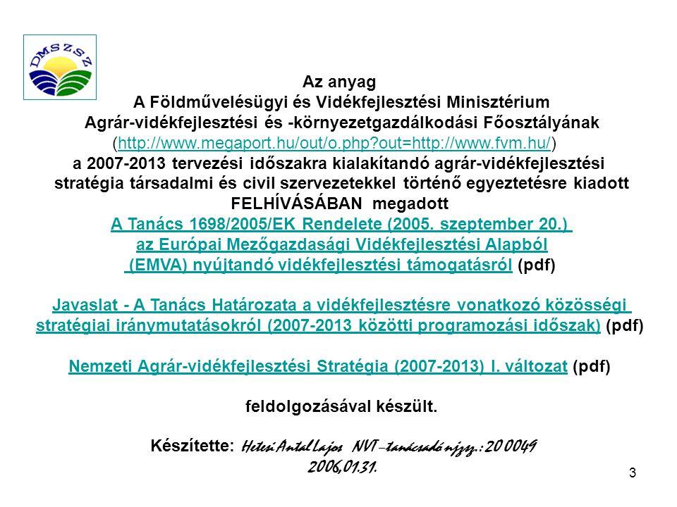 A Földművelésügyi és Vidékfejlesztési Minisztérium