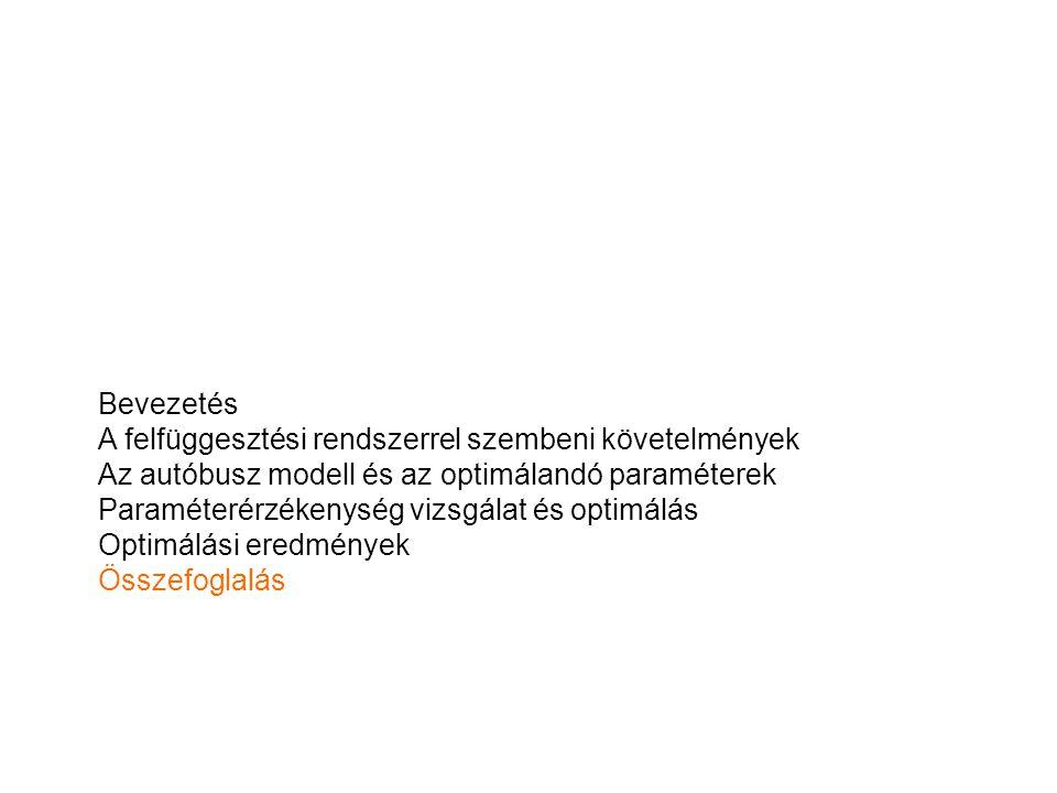 Bevezetés A felfüggesztési rendszerrel szembeni követelmények. Az autóbusz modell és az optimálandó paraméterek.