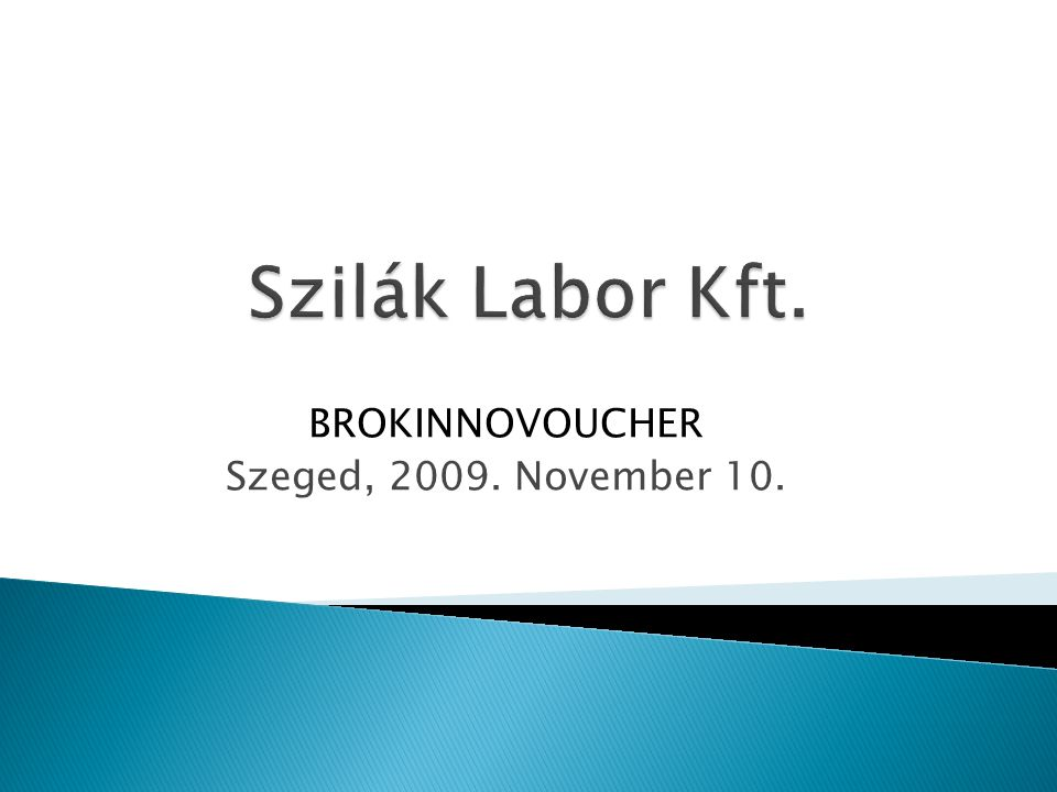 BROKINNOVOUCHER Szeged, 2009. November 10.