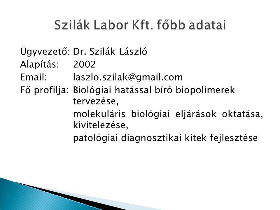 Szilák Labor Kft. főbb adatai