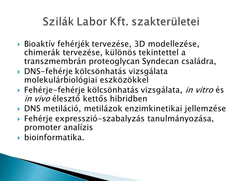 Szilák Labor Kft. szakterületei