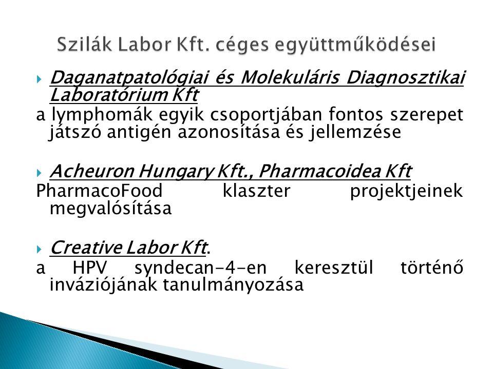 Szilák Labor Kft. céges együttműködései