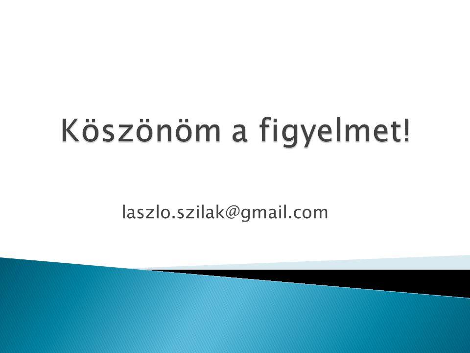 Köszönöm a figyelmet! laszlo.szilak@gmail.com