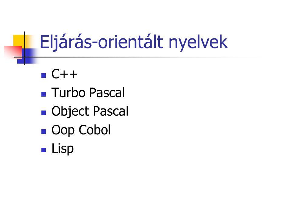 Eljárás-orientált nyelvek