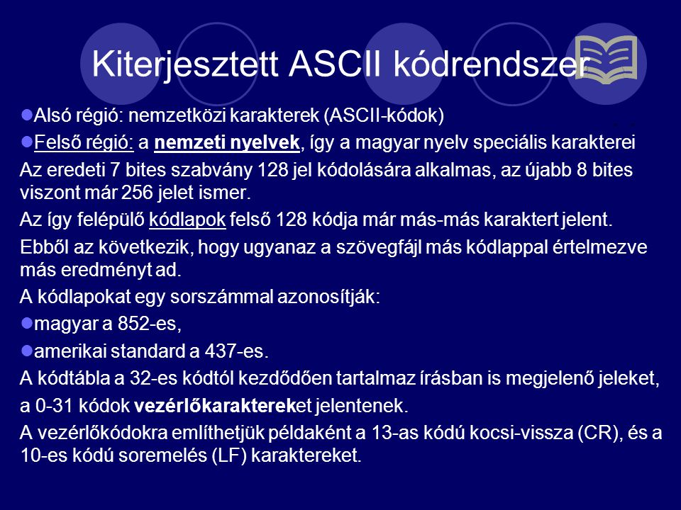 Kiterjesztett ASCII kódrendszer