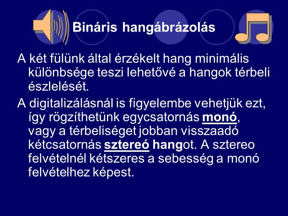 Bináris hangábrázolás