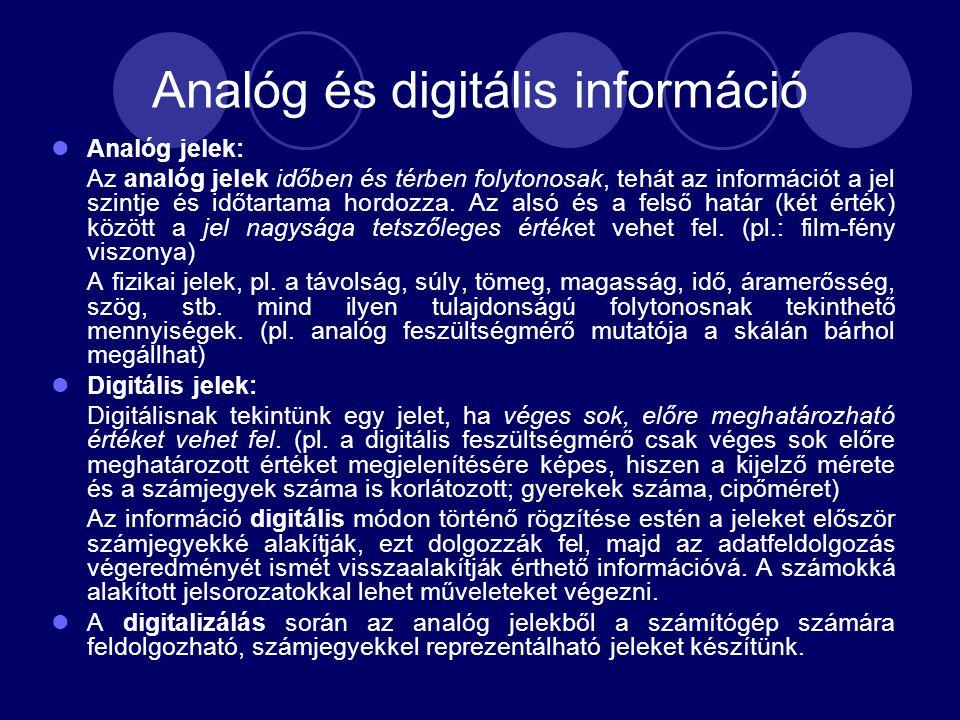 Analóg és digitális információ