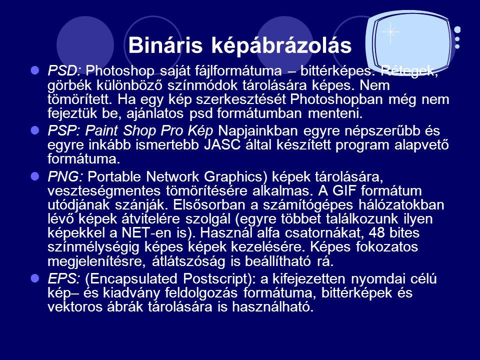 Bináris képábrázolás