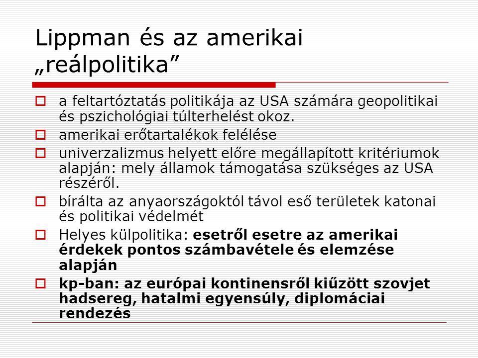 """Lippman és az amerikai """"reálpolitika"""