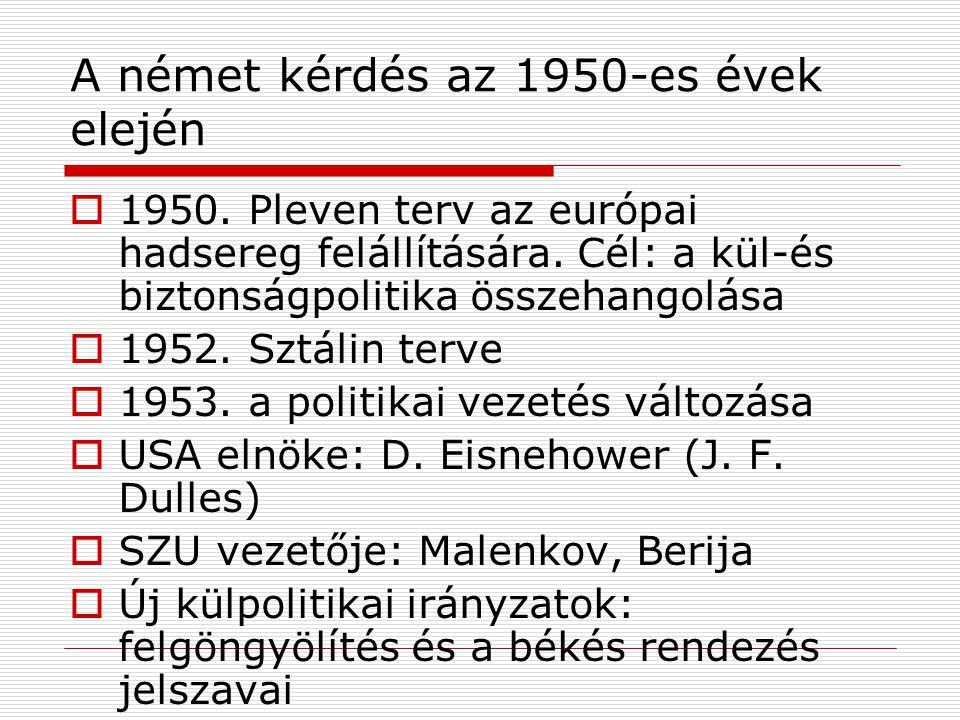 A német kérdés az 1950-es évek elején