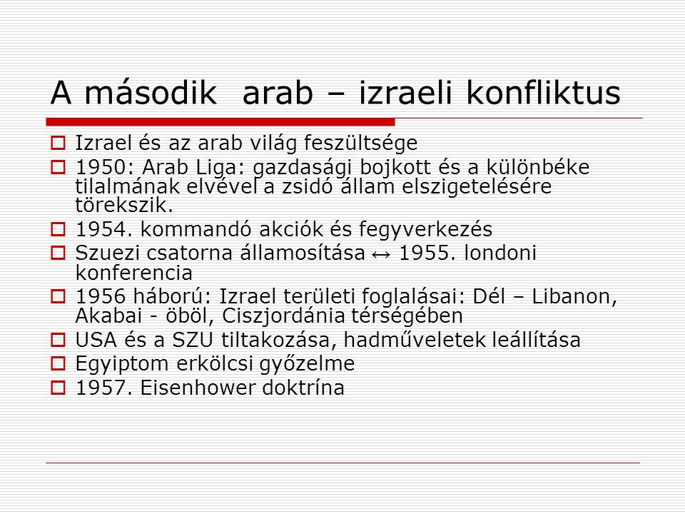 A második arab – izraeli konfliktus