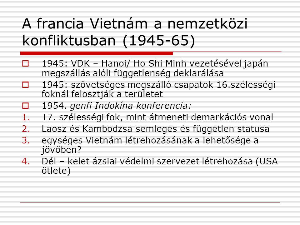 A francia Vietnám a nemzetközi konfliktusban (1945-65)