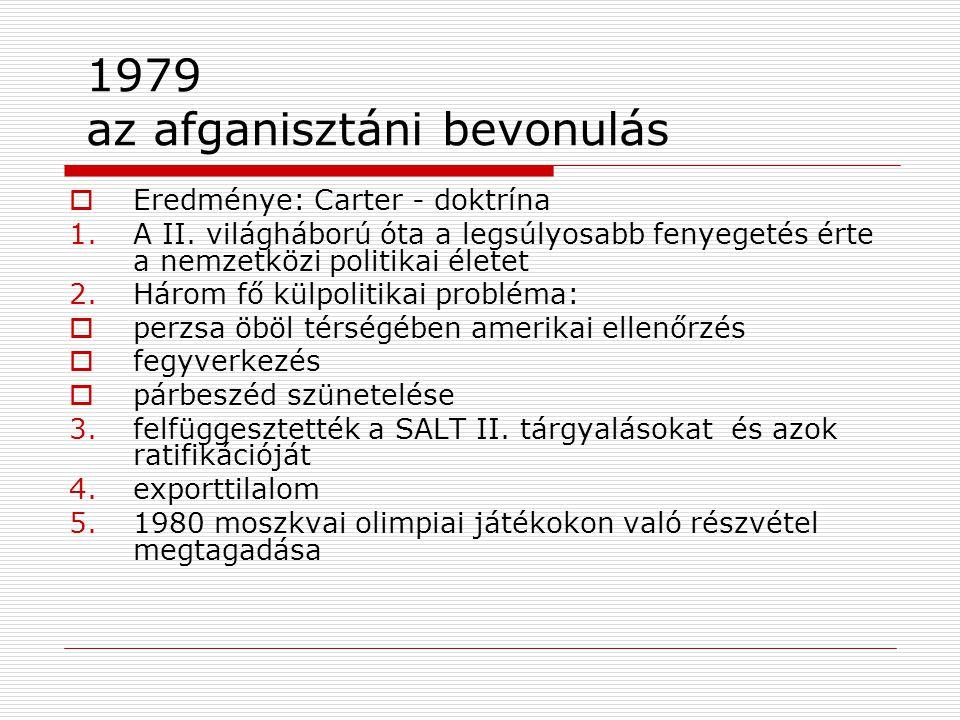 1979 az afganisztáni bevonulás