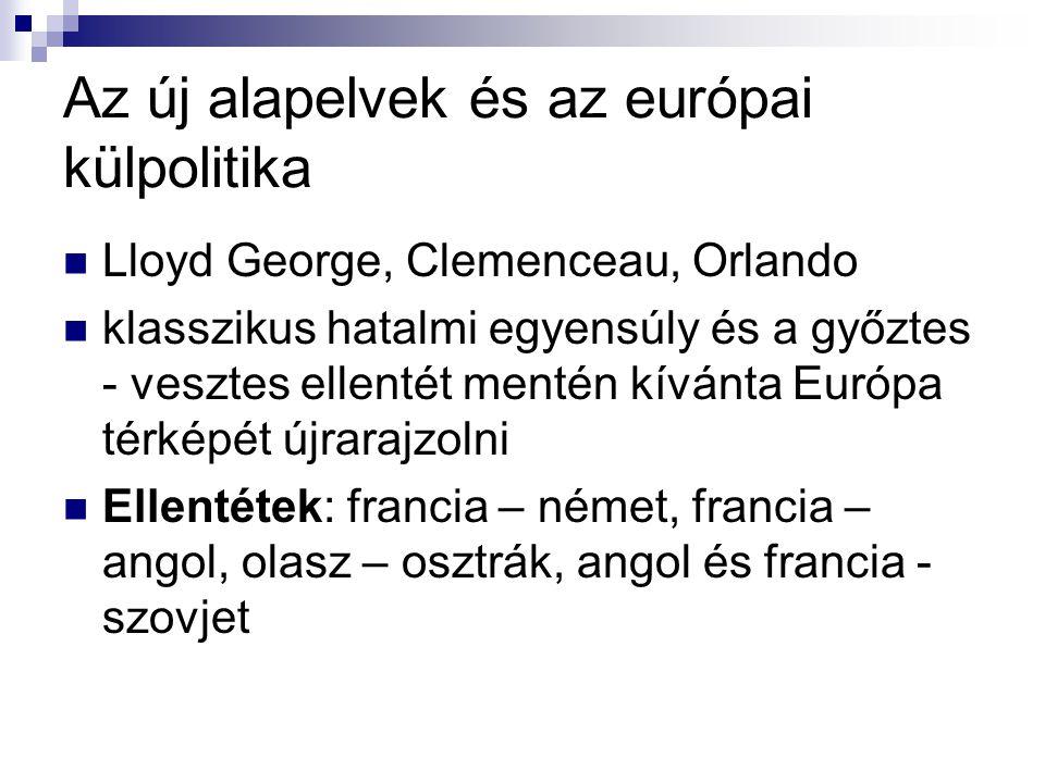 Az új alapelvek és az európai külpolitika