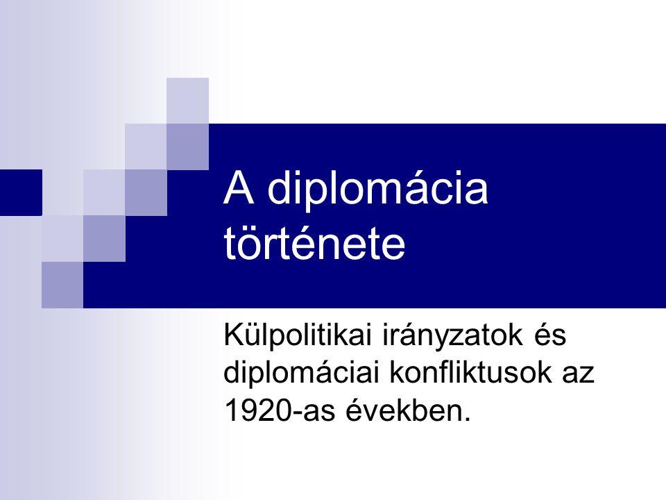 A diplomácia története