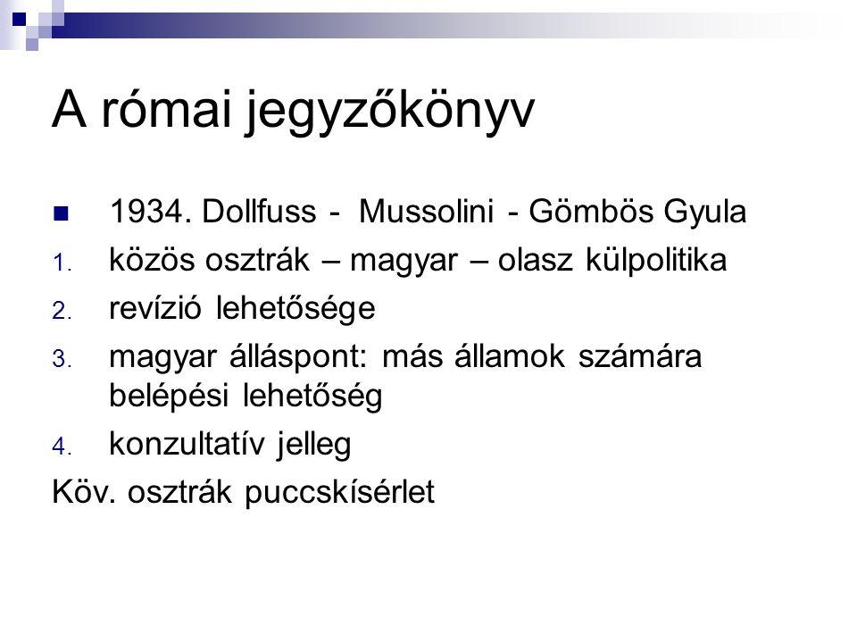 A római jegyzőkönyv 1934. Dollfuss - Mussolini - Gömbös Gyula