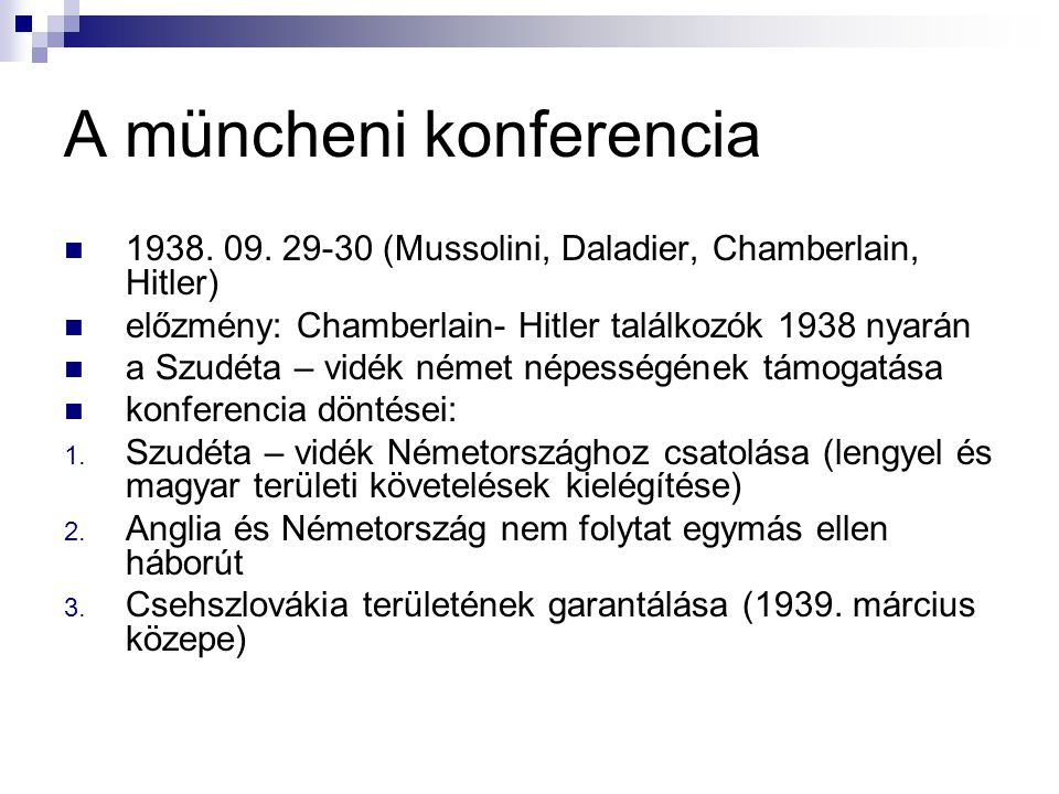 A müncheni konferencia
