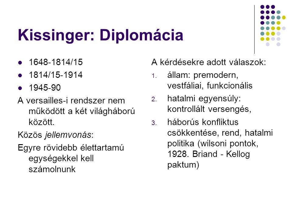 Kissinger: Diplomácia
