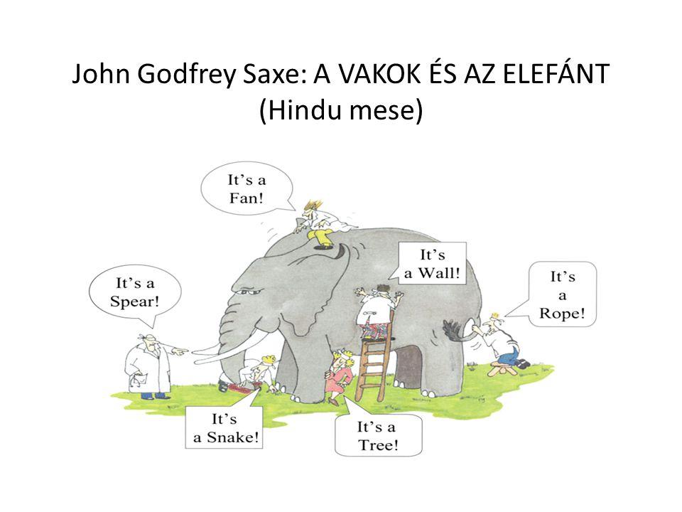 John Godfrey Saxe: A VAKOK ÉS AZ ELEFÁNT (Hindu mese)