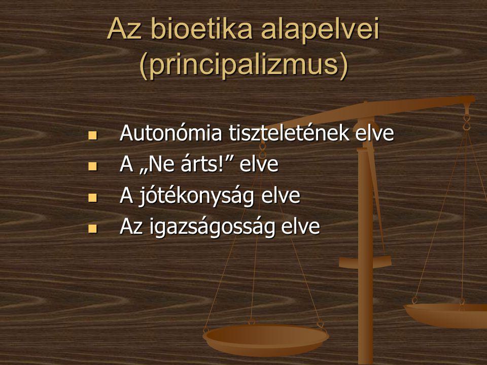 Az bioetika alapelvei (principalizmus)