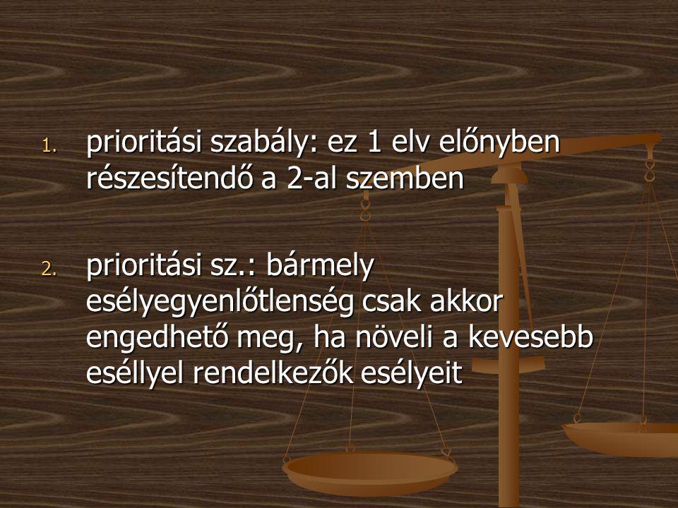 prioritási szabály: ez 1 elv előnyben részesítendő a 2-al szemben