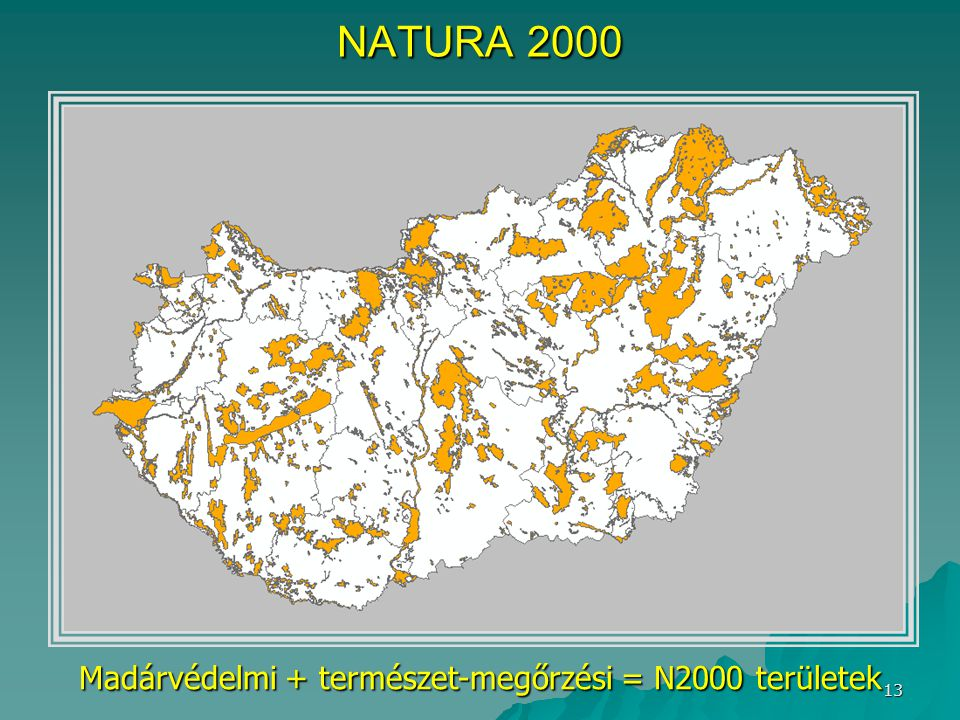 Madárvédelmi + természet-megőrzési = N2000 területek