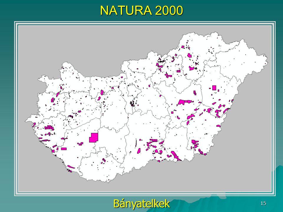 NATURA 2000 Bányatelkek