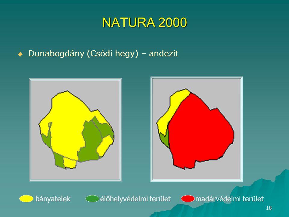NATURA 2000 Dunabogdány (Csódi hegy) – andezit