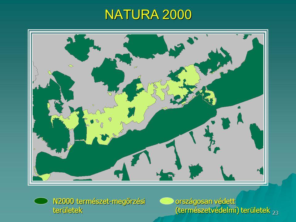 NATURA 2000 N2000 természet-megőrzési területek országosan védett