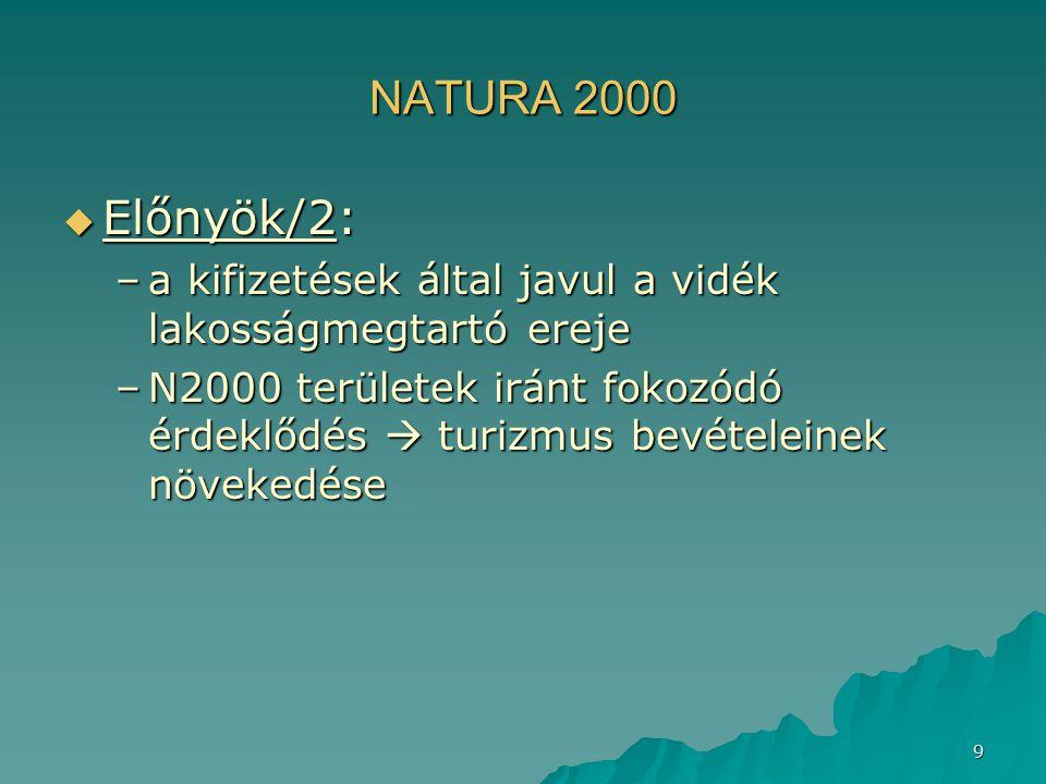 NATURA 2000 Előnyök/2: a kifizetések által javul a vidék lakosságmegtartó ereje.
