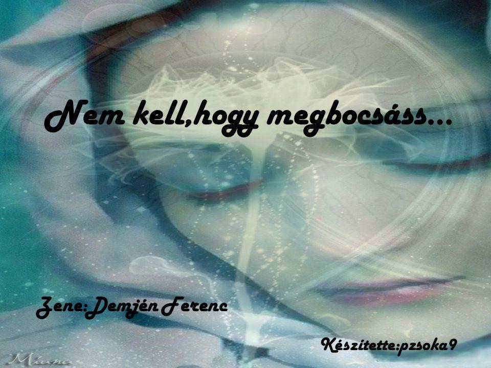 Nem kell,hogy megbocsáss…