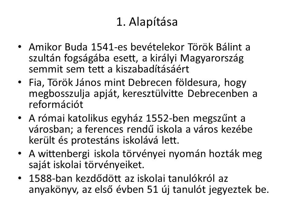 1. Alapítása Amikor Buda 1541-es bevételekor Török Bálint a szultán fogságába esett, a királyi Magyarország semmit sem tett a kiszabadításáért.