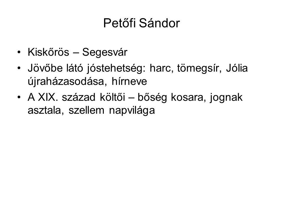 Petőfi Sándor Kiskőrös – Segesvár