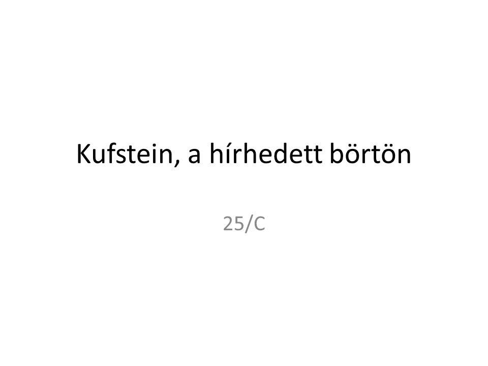 Kufstein, a hírhedett börtön