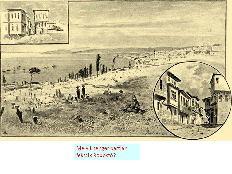 Melyik tenger partján fekszik Rodostó