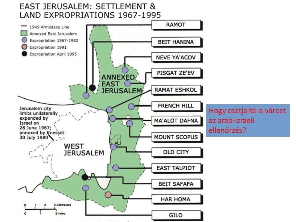 Hogy osztja fel a várost az arab-izraeli ellenőrzés