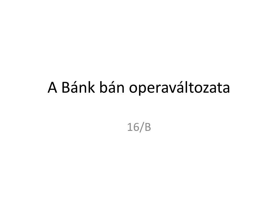 A Bánk bán operaváltozata