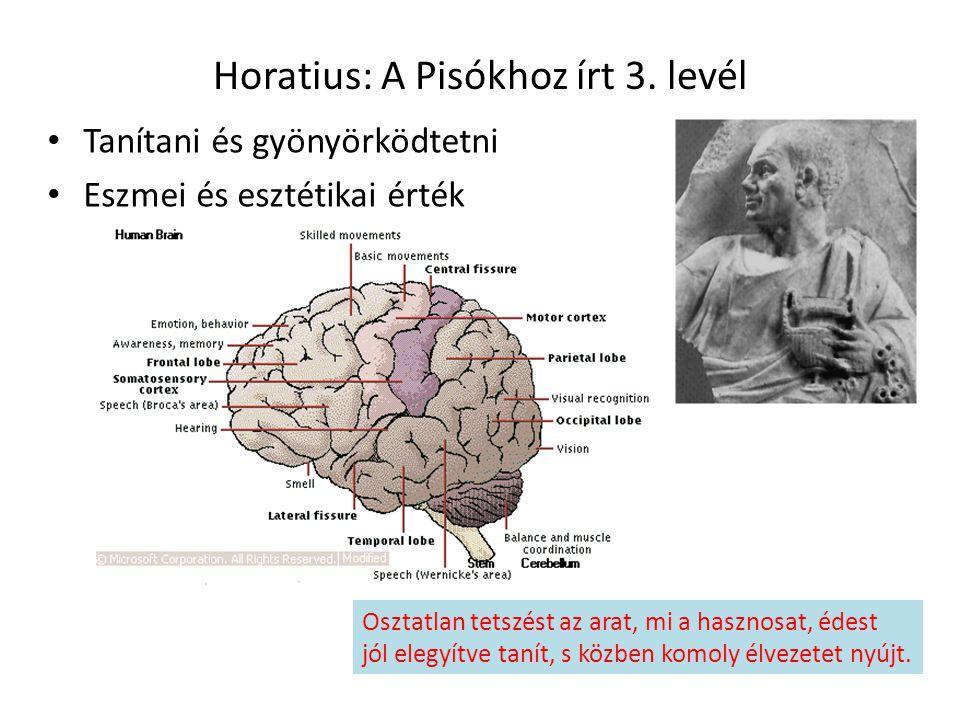 Horatius: A Pisókhoz írt 3. levél