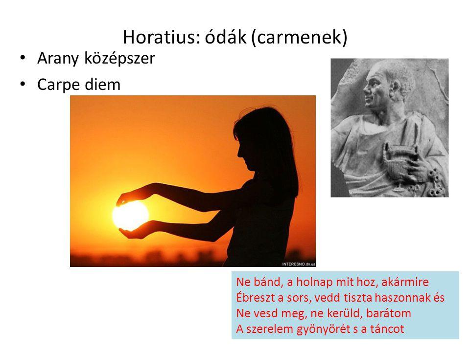 Horatius: ódák (carmenek)