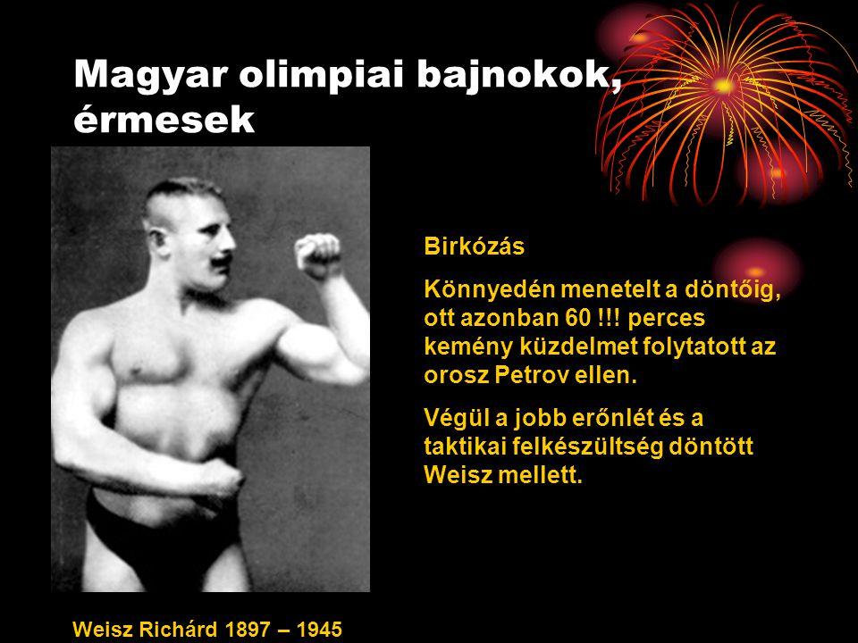 Magyar olimpiai bajnokok, érmesek
