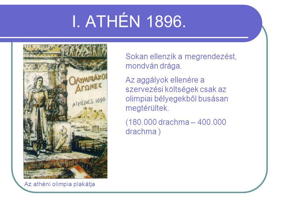Az athéni olimpia plakátja