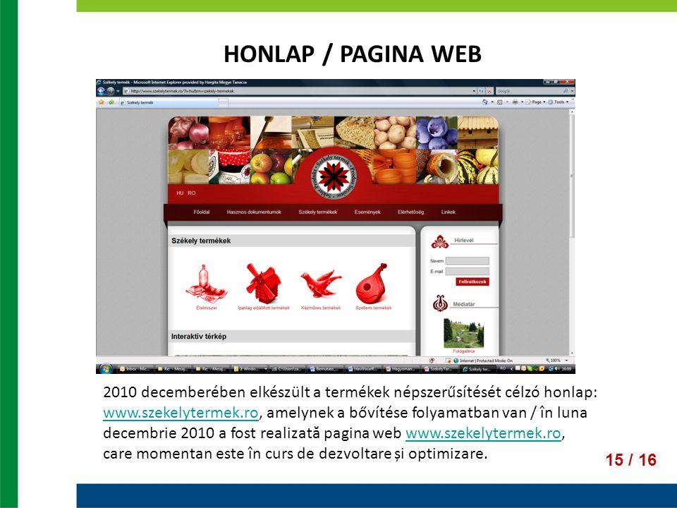 HONLAP / PAGINA WEB