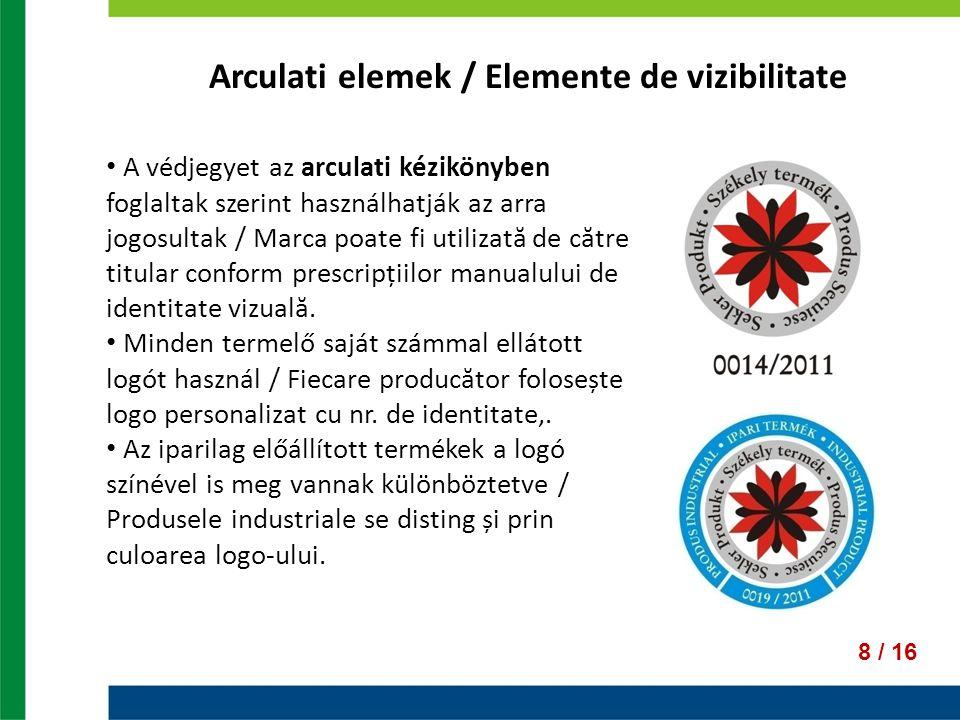 Arculati elemek / Elemente de vizibilitate