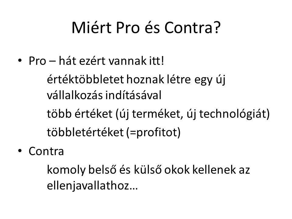 Miért Pro és Contra Pro – hát ezért vannak itt!