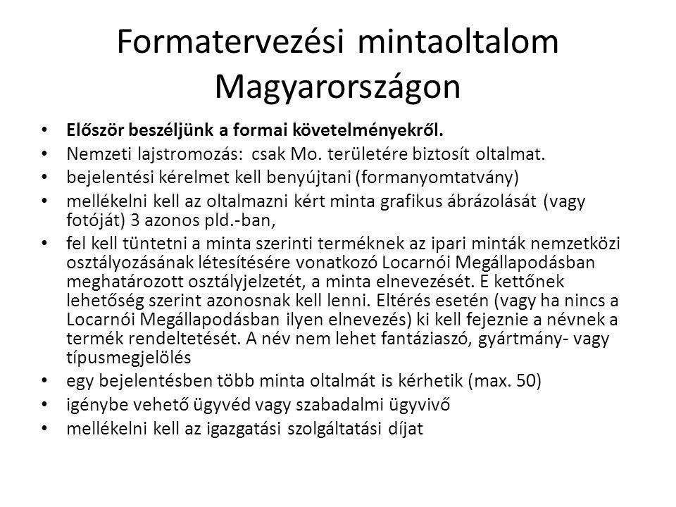 Formatervezési mintaoltalom Magyarországon