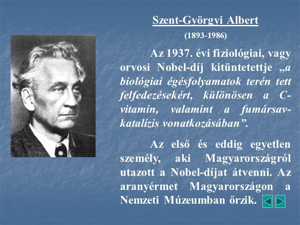 Szent-Györgyi Albert (1893-1986)