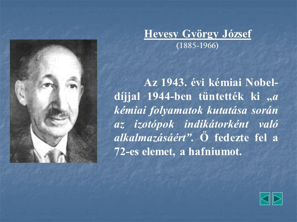 Hevesy György József (1885-1966)